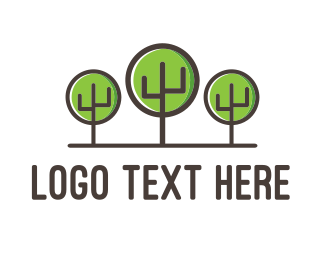 Forest - Cactus Forest logo design
