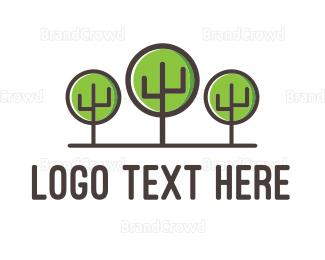 Eco Energy - Cactus Forest logo design