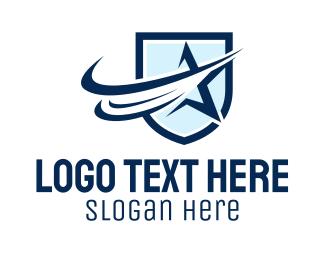 Shield - Star Shield logo design