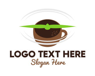 Coffee - Flying Coffee logo design