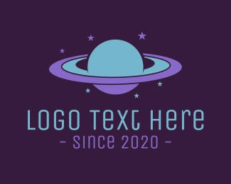 Astronomy - Saturn logo design