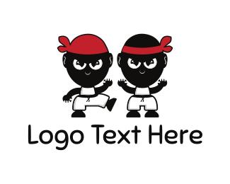 Twin - Karate Kids logo design