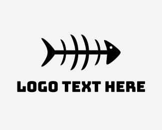 Halo - Mackerel Fish Bones logo design