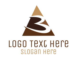 Tan - Number 3 Triangle logo design