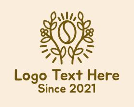 Coffee - Coffee Bean Plant logo design