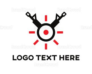 Bang - Gun Target logo design