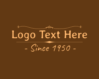 Nostalgia - Vintage Brown Wordmark logo design