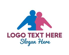 Together - Family Support logo design
