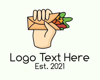 Food Store - Burrito Lunch Wrap logo design