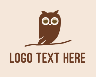Theme Cafe - Owl Bird Cafe logo design