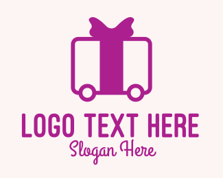 Delivery Service - Purple Gift Delivery logo design
