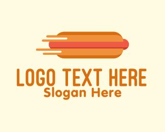 Hot - Fast Hot Dog Stand logo design