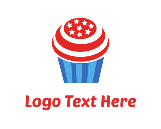 Patriotic - Cupcake USA logo design