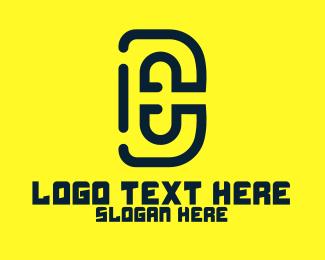 De - Modern D & E logo design