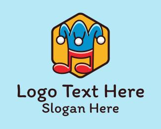 Funny - Funny Jester Music  logo design