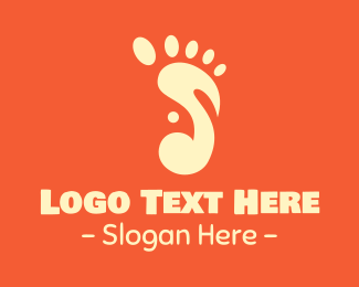 Foot - Modern Footnote logo design