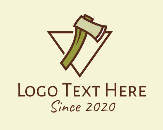 Hatchet - Lumberjack Axe logo design