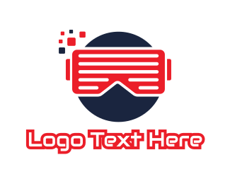 5d - Circle Pixel VR logo design