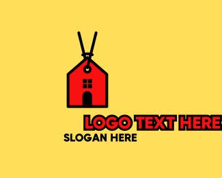 Sale - Red House Sale Tag logo design