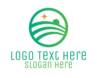 Circular - Green Farm Star logo design