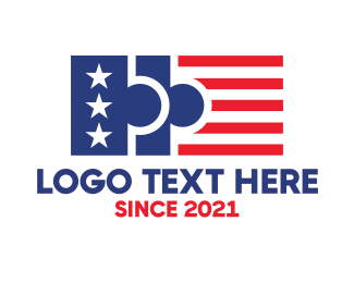 Michigan - USA Puzzle Flag logo design