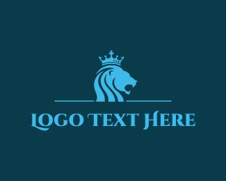 Africa - Blue Lion King logo design
