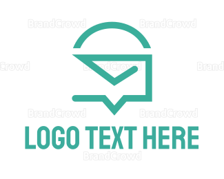 Text Message - Mail Chat logo design