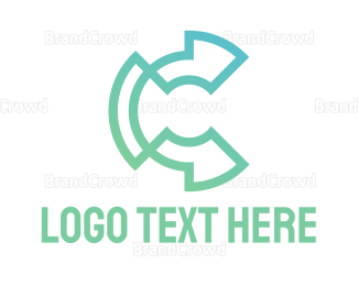 Cryptocurrency - High Tech C Outline logo design