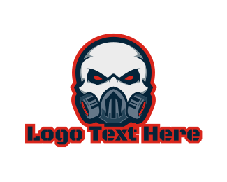 Fictional Character - Gas Mask Ghoul  logo design