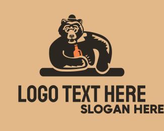 Bar - Bear Bar logo design
