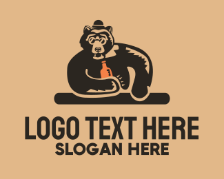 Sunglasses - Bear Bar logo design