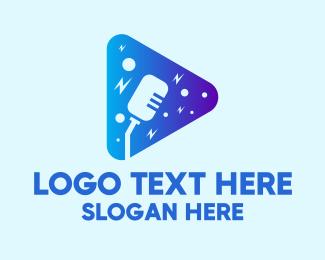 Microphone - Singer Microphone Application logo design