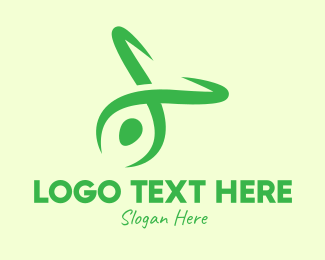 Zumba - Green Yoga Instructor logo design