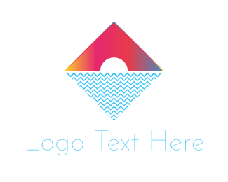 Burning Man - Tropical Diamond logo design