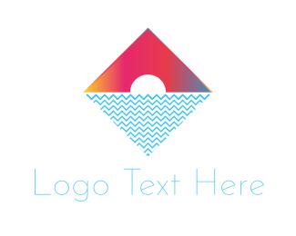 Sunrise - Tropical Diamond logo design