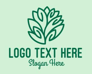 Spa - Teal Nature Leaf Spa logo design