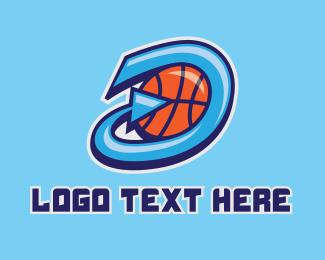 Basketball Team - Basketball Team Letter D  logo design