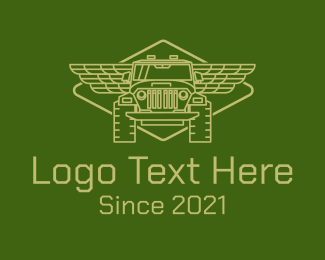 Off Road - Green Off Road Truck 4WD logo design