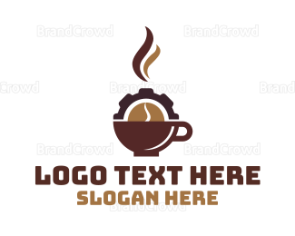 Cocoa - Coffee Cup Cog logo design