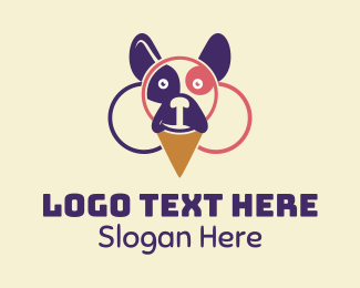Ice Cream Sundae - Dog Ice Cream  logo design