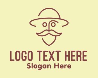 Grandparent - Old Man Traveler  logo design