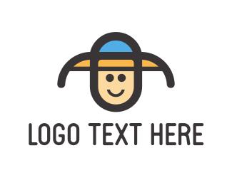 Fedora - Child Hat logo design