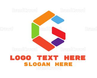 Shape - Colorful G Shape logo design