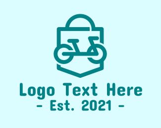 Bike Store - Bicycle Shopping Bag logo design