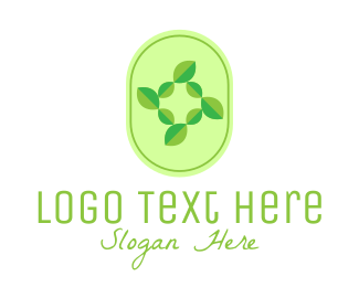 Seasons - Green Natural Leaves logo design