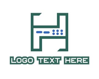 Modem - Server H logo design