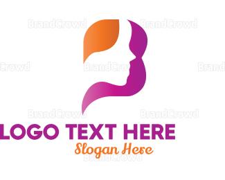 Lady - Purple Beauty Letter B logo design