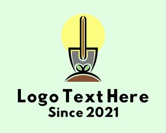 Linework - Gardening Shovel  logo design