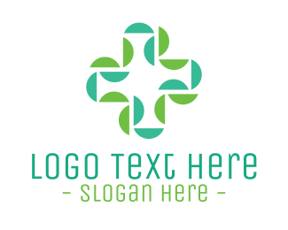 Doctor - Abstract Medical Doctor Green Cross logo design
