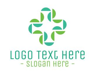 Chemist - Abstract Medical Doctor Green Cross logo design
